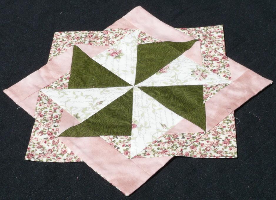 Stern grün-rosa