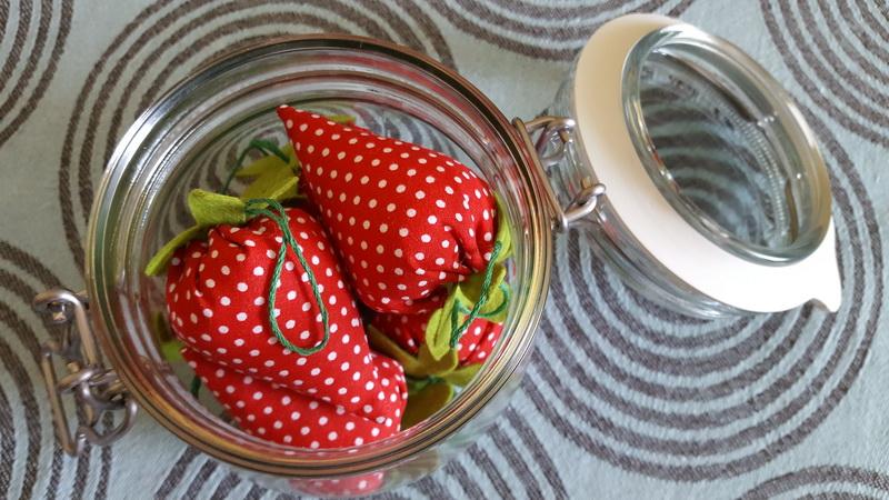 Erdbeerenglas