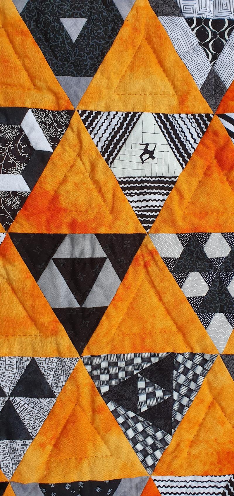 Orange Black Triangles